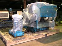 Wrapping machinery in stages